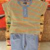 Stripes Shirt and Shorts (Orange)